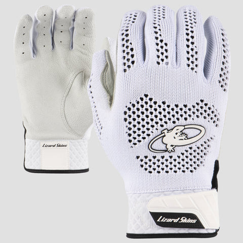 Lizard Skins Pro Knit Batting Gloves White - Complete Game Pro Shop