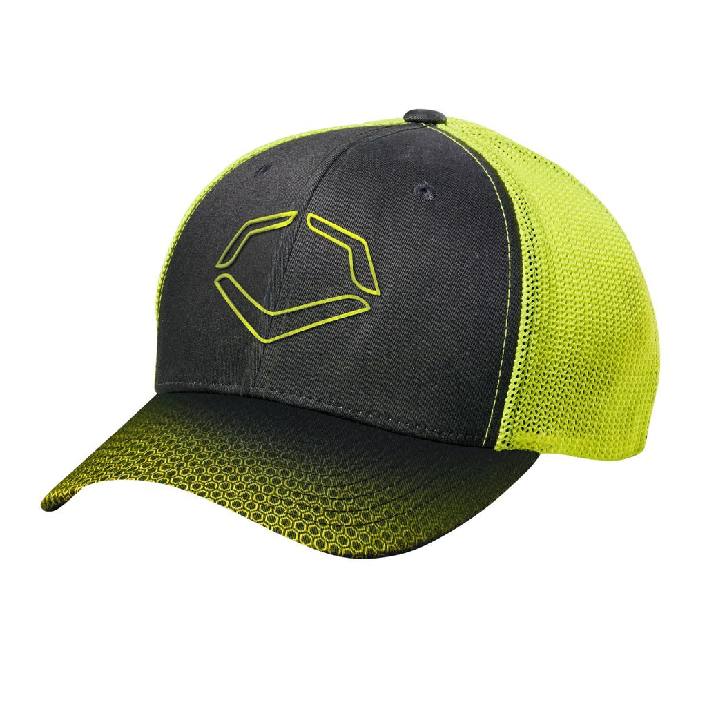 EvoShield Neon Onslaught FlexFit Baseball Cap - Black - Complete Game Pro Shop