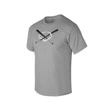 Evoshield Crossed Bats Men's Graphic Tee Grey - Complete Game Pro Shop