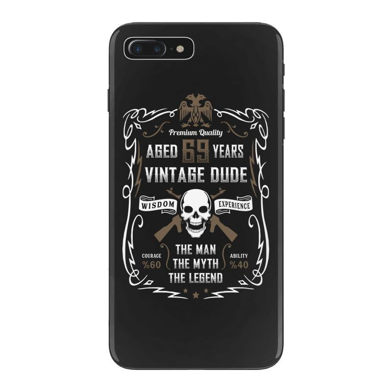 Aged 69 Years Vintage Dude iPhone 7 Plus Shell Case
