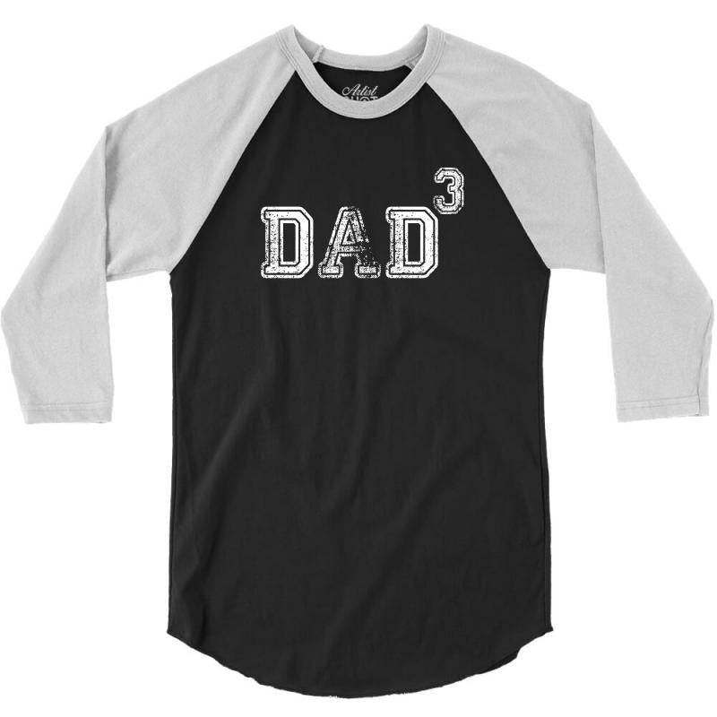Dad to the Second Power ( dad of 3 ) 3/4 Sleeve Shirt
