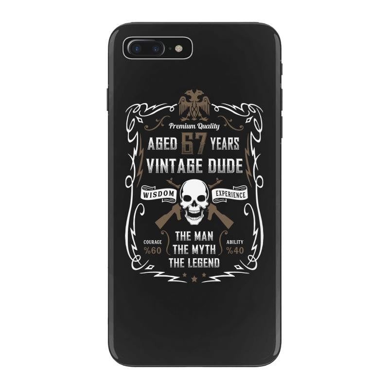 Aged 67 Years Vintage Dude iPhone 7 Plus Shell Case