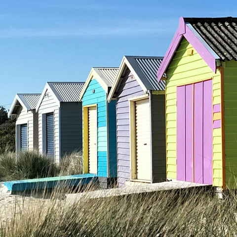 Beach Boxes in Victoria, Australia. Image by Cockatoo Collection