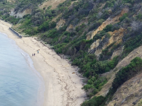 Red Bluff Beach from above