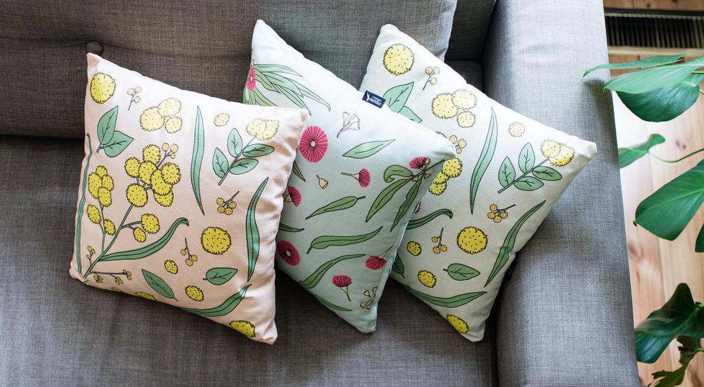 NATIVE FLORA COLLECTION CUSHIONS BY COCKATOO COLLECTION