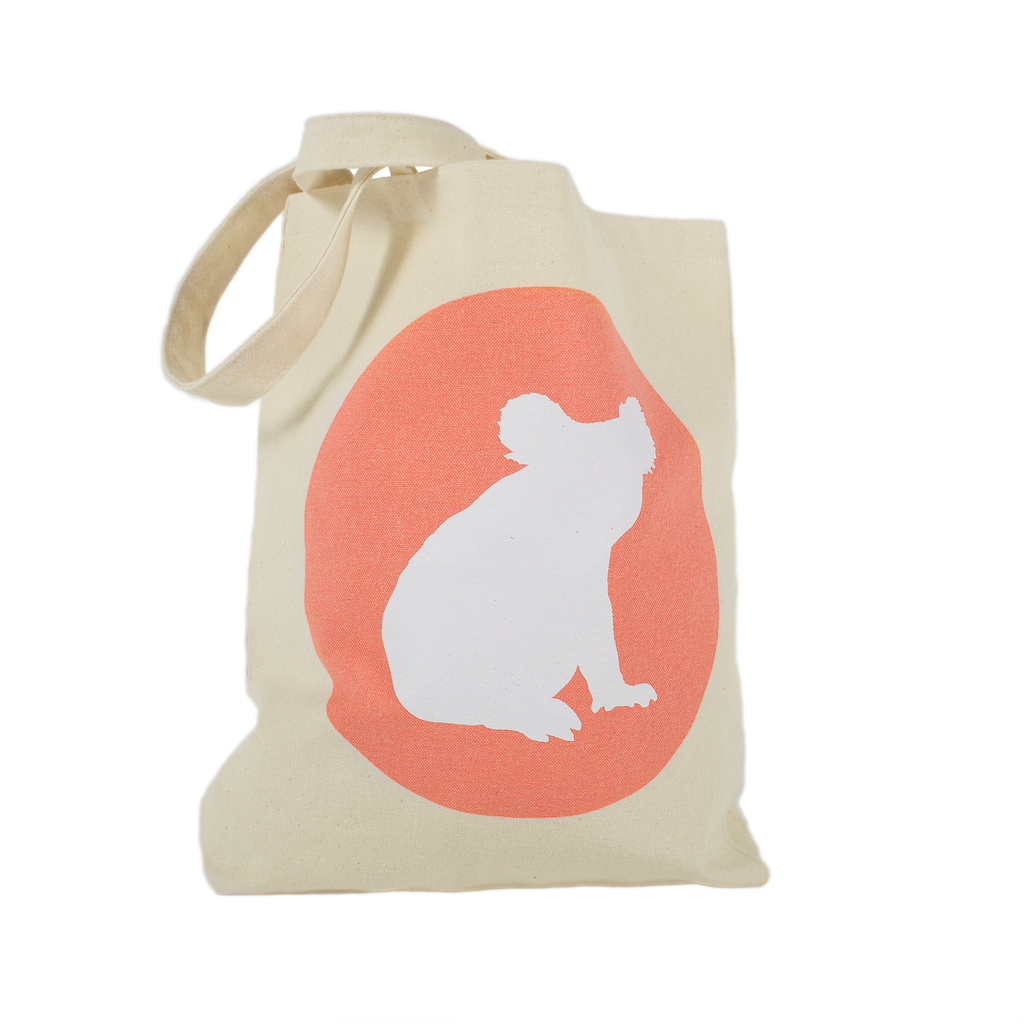 Iconic Koala Canvas Tote Bag / Australiana gift by Cockatoo Collection