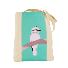 Kookaburra Canvas Tote and Australiana gift by Cockatoo Collection