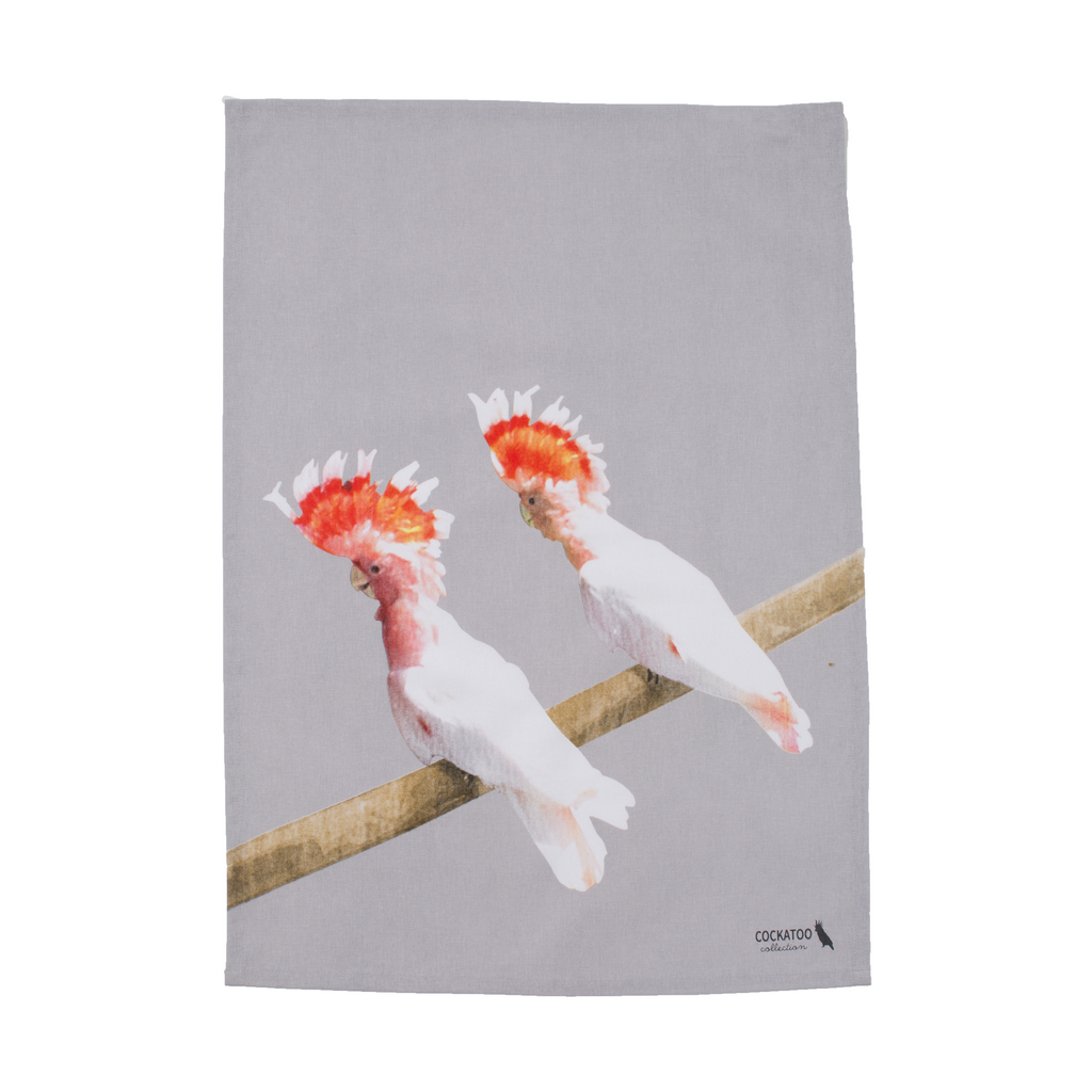 Cockatoo Friends Tea Towel Australiana gift by Cockatoo Collection