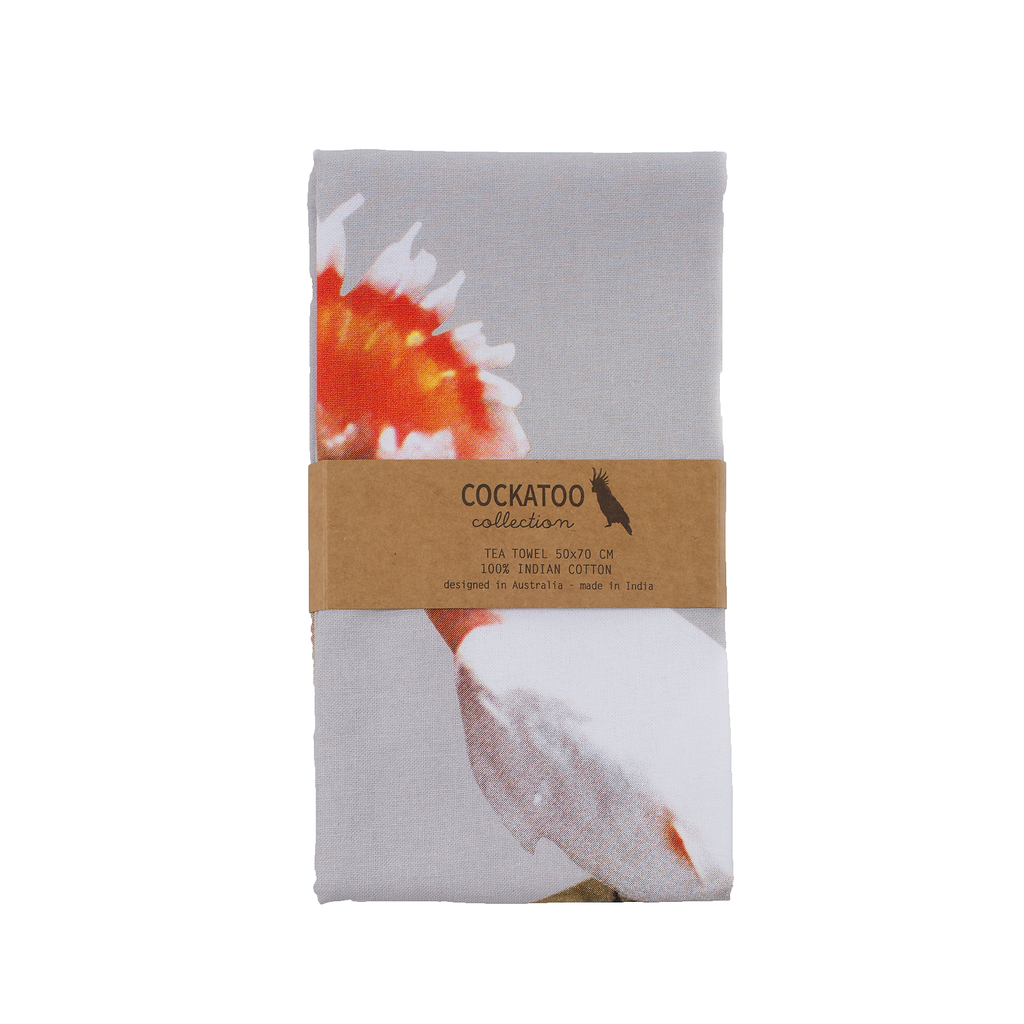 Cockatoo Friends Tea Towel Modern Australiana gift by Cockatoo Collection
