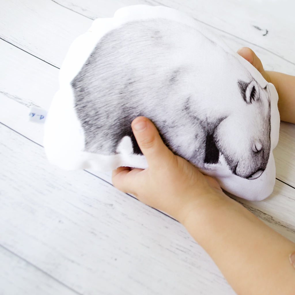 Wombat Stuffie / Toy. Australiana Gift / Wildlife Gift by flossy-p. Image Credits: emilykcreative