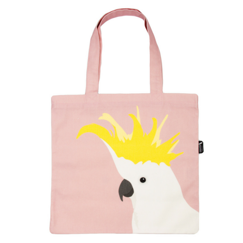 Cockatoo Canvas Tote in Rose by Cockatoo Collection. Ethically handmade in Australia.