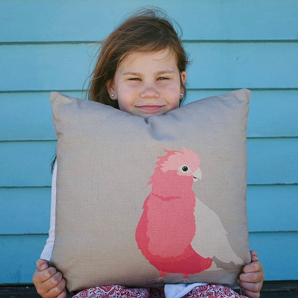 Ethical Handmade Galah Cushion by Cockatoo Collection