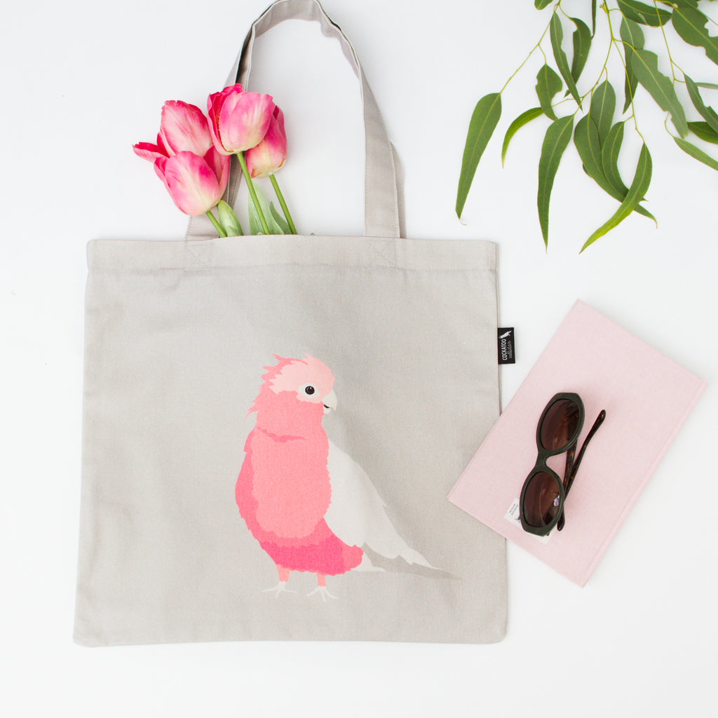 Galah Canvas Tote by Cockatoo Collection. Ethically made in Australia