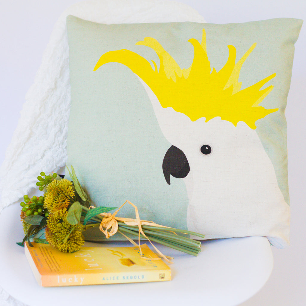 Ethically made Cockatoo Cushion by Cockatoo Collection