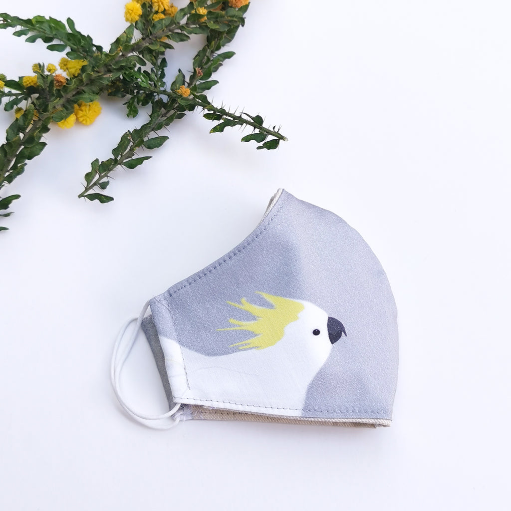 Cockatoo Reusable Face Mask by Cockatoo Collection
