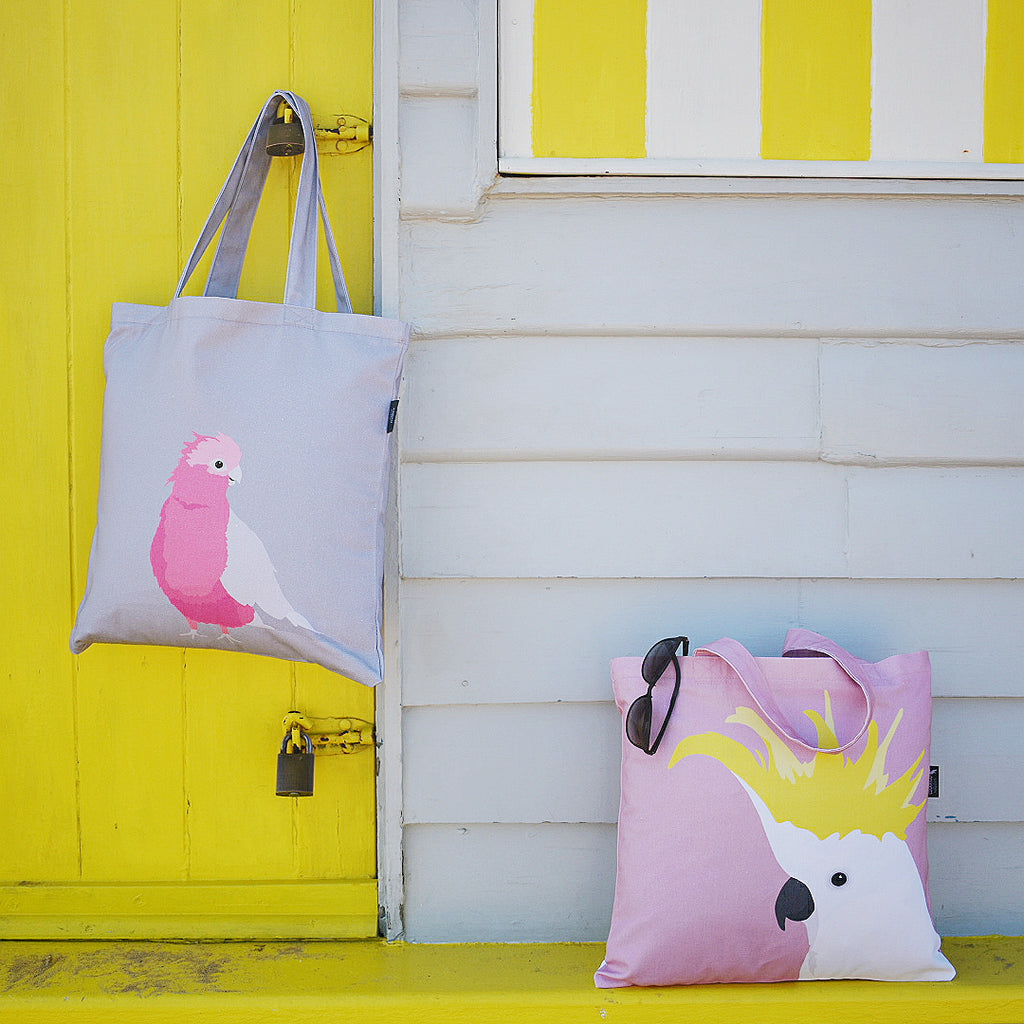 Cockatoo and Galah Organic Canvas Totes by Cockatoo Collection