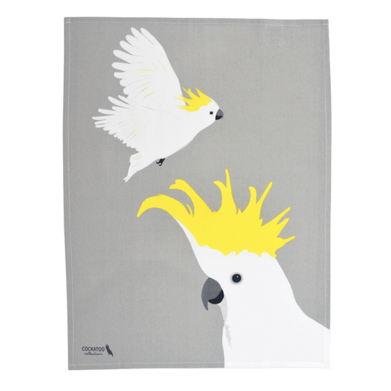 COCKATOO IN FLIGHT TEA TOWEL