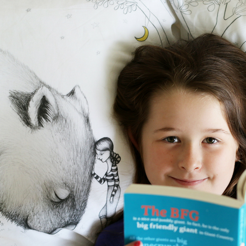 Giant Wombat Pillowcase - Australian art and Australiana gift. Illustrated by flossy-p. Image Credits: monkeyandbee