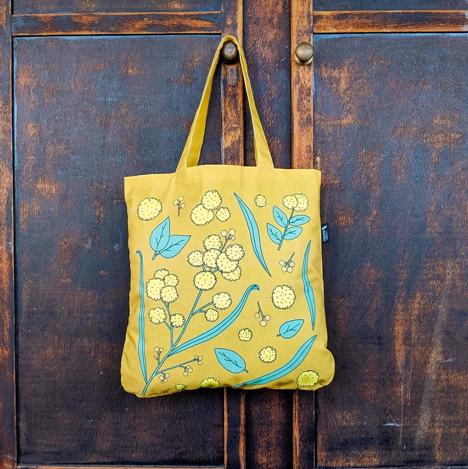 Golden Wattle Organic Tote in Mustard by Cockatoo Collection