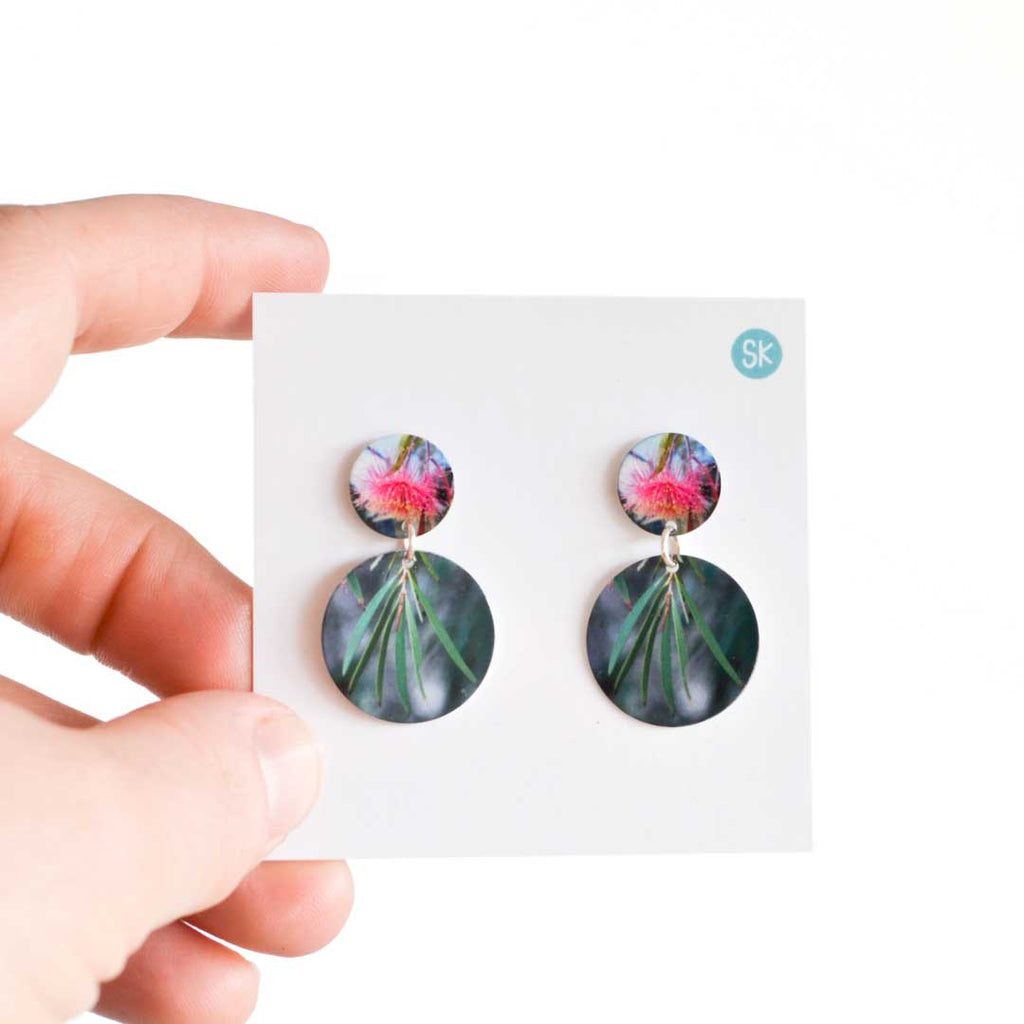 Gum Blossom Double Stud Earrings