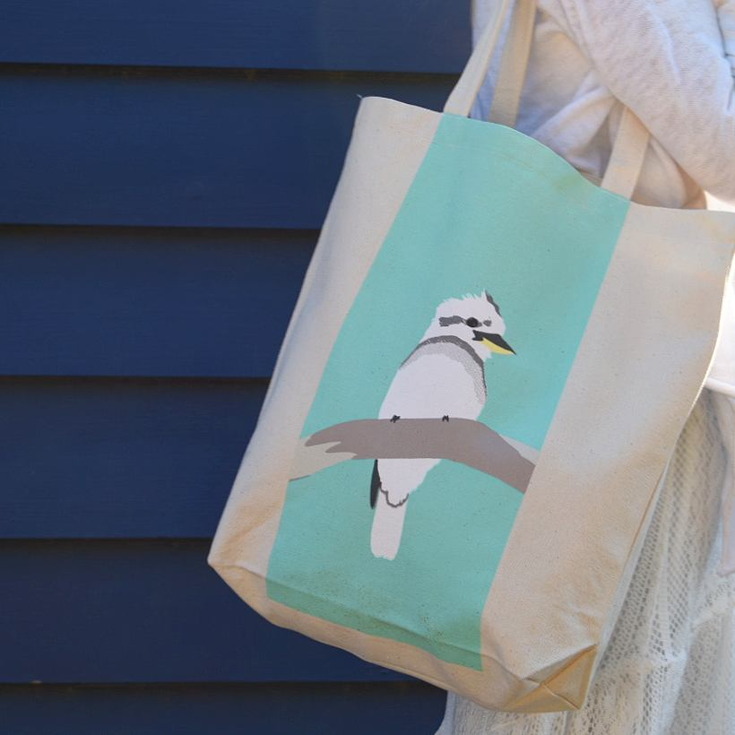 CUTE KOOKABURRA CANVAS BAG