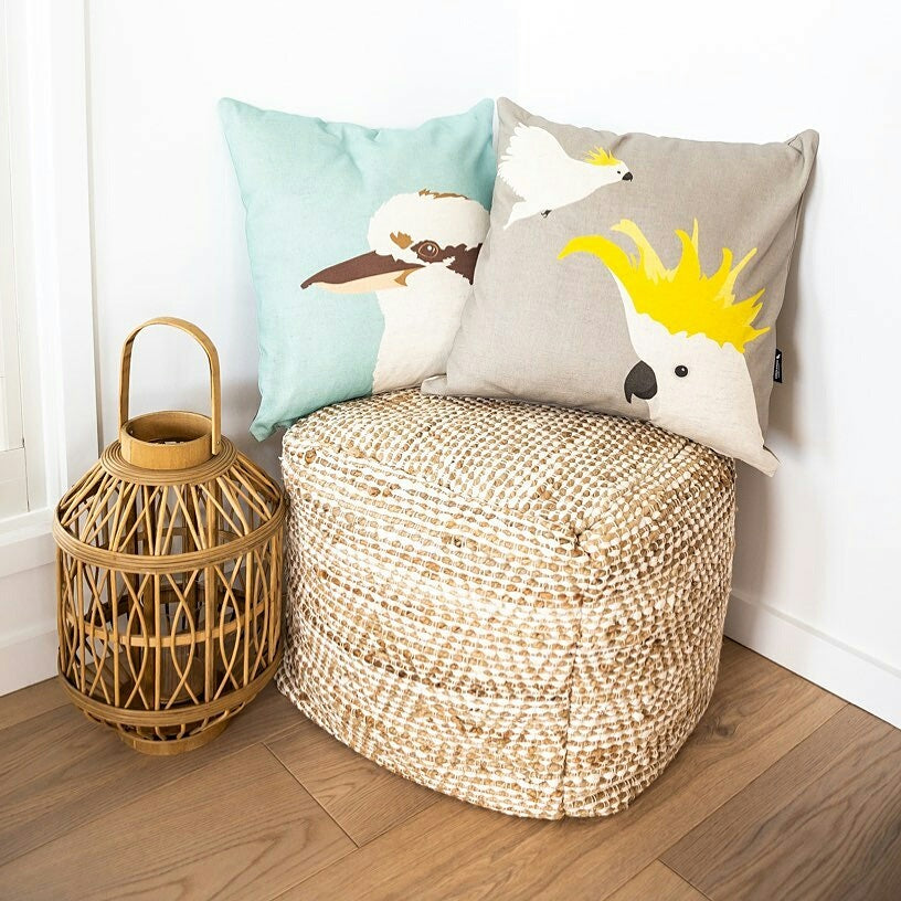 Cockatoo and Kookaburra Handmade Cushions by Cockatoo Collection