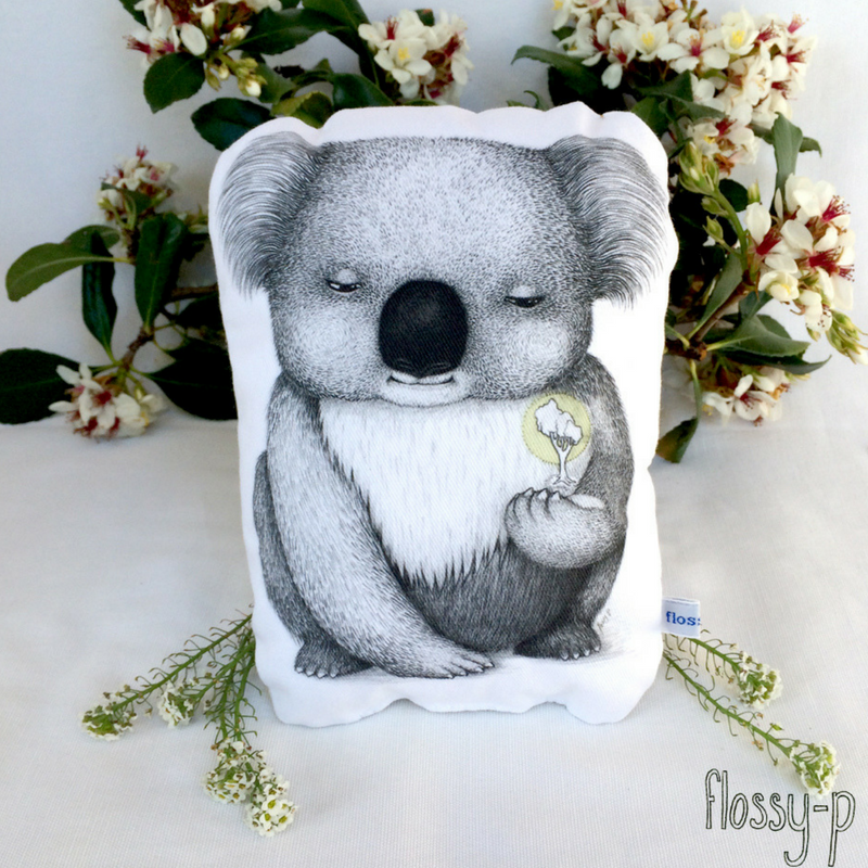 Koala Stuffie / Toy. Australian art / Australiana Gift by flossy-p