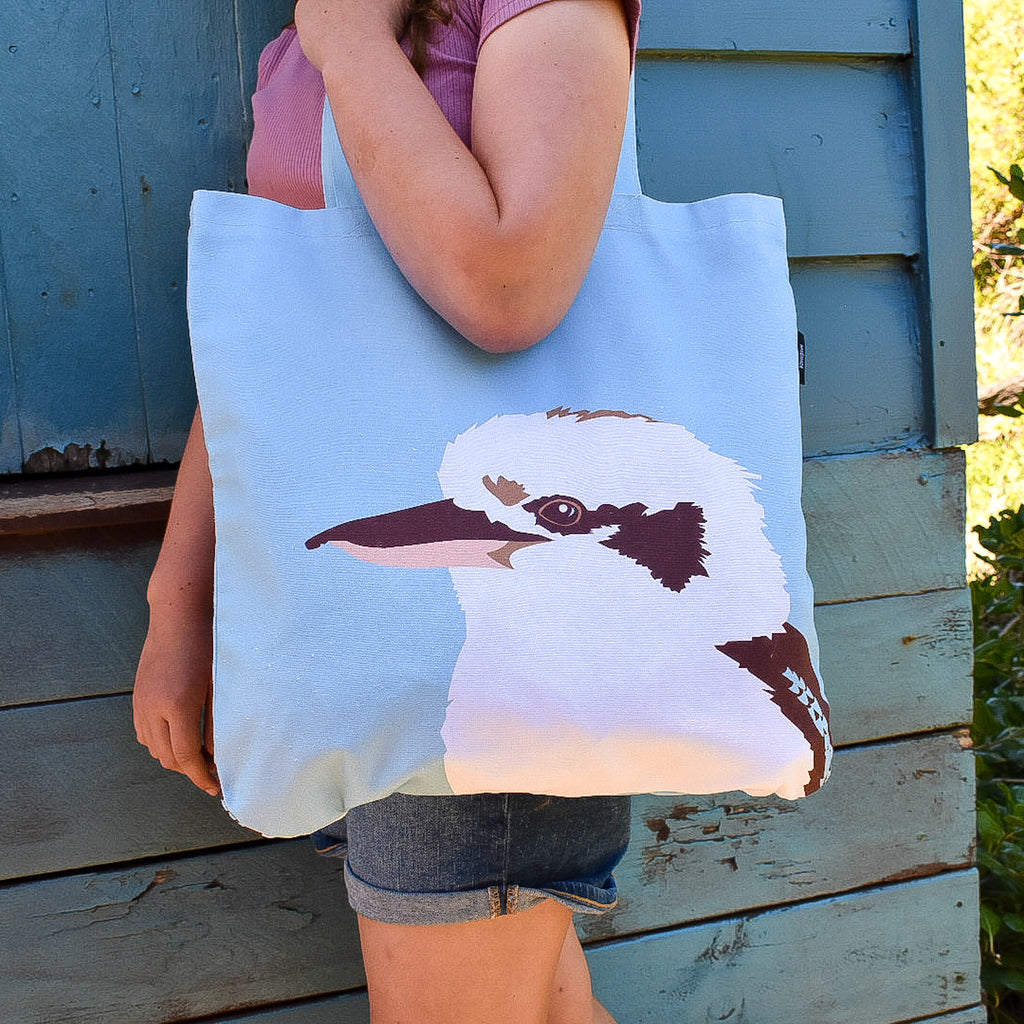 Kookaburra Organic Canvas Tote by Cockatoo Collection