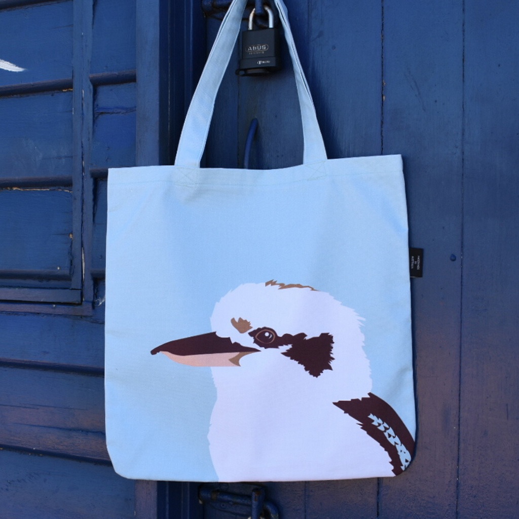 Handmade Organic Kookaburra Tote by Cockatoo Collection