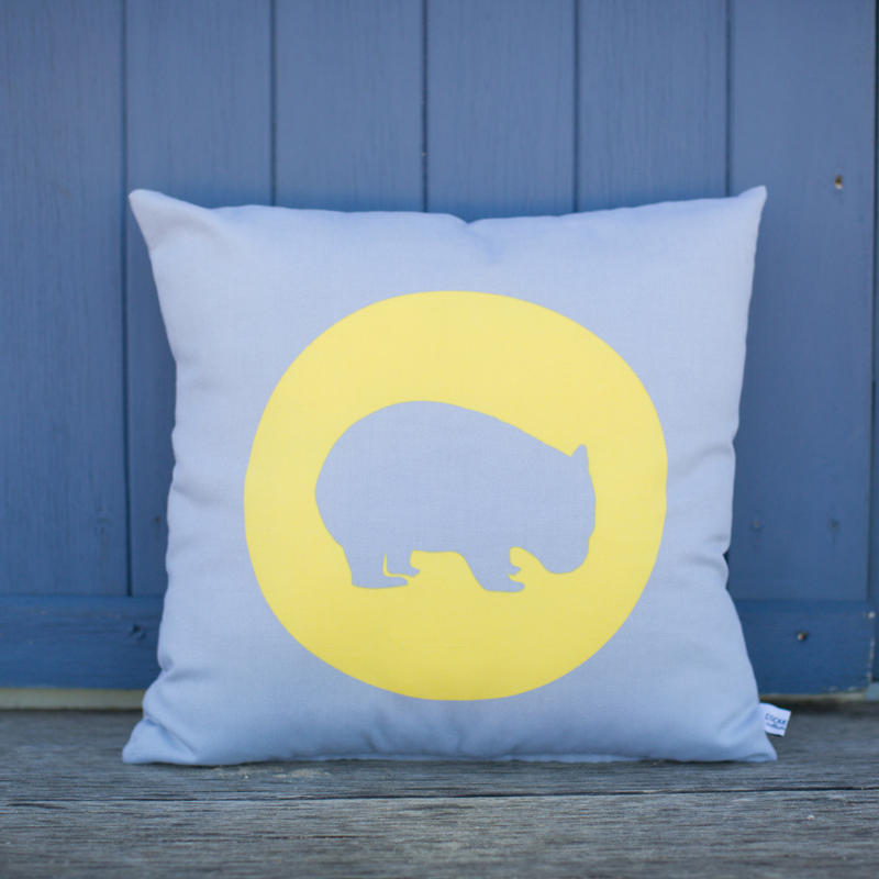 Wombat cushion / Australian animals gift / gift for overseas