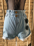 Janet Denim High Waisted Shorts
