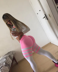 PINK BARS (Light supplex)-NYLeggings.com