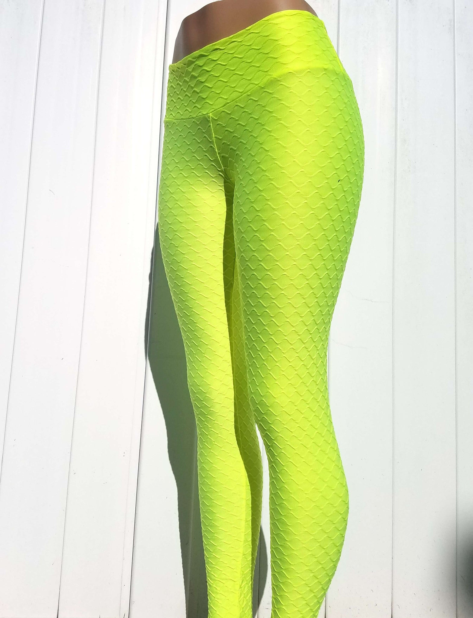 BURMESE NEON YELLOW (S/M) - NYLeggings.com