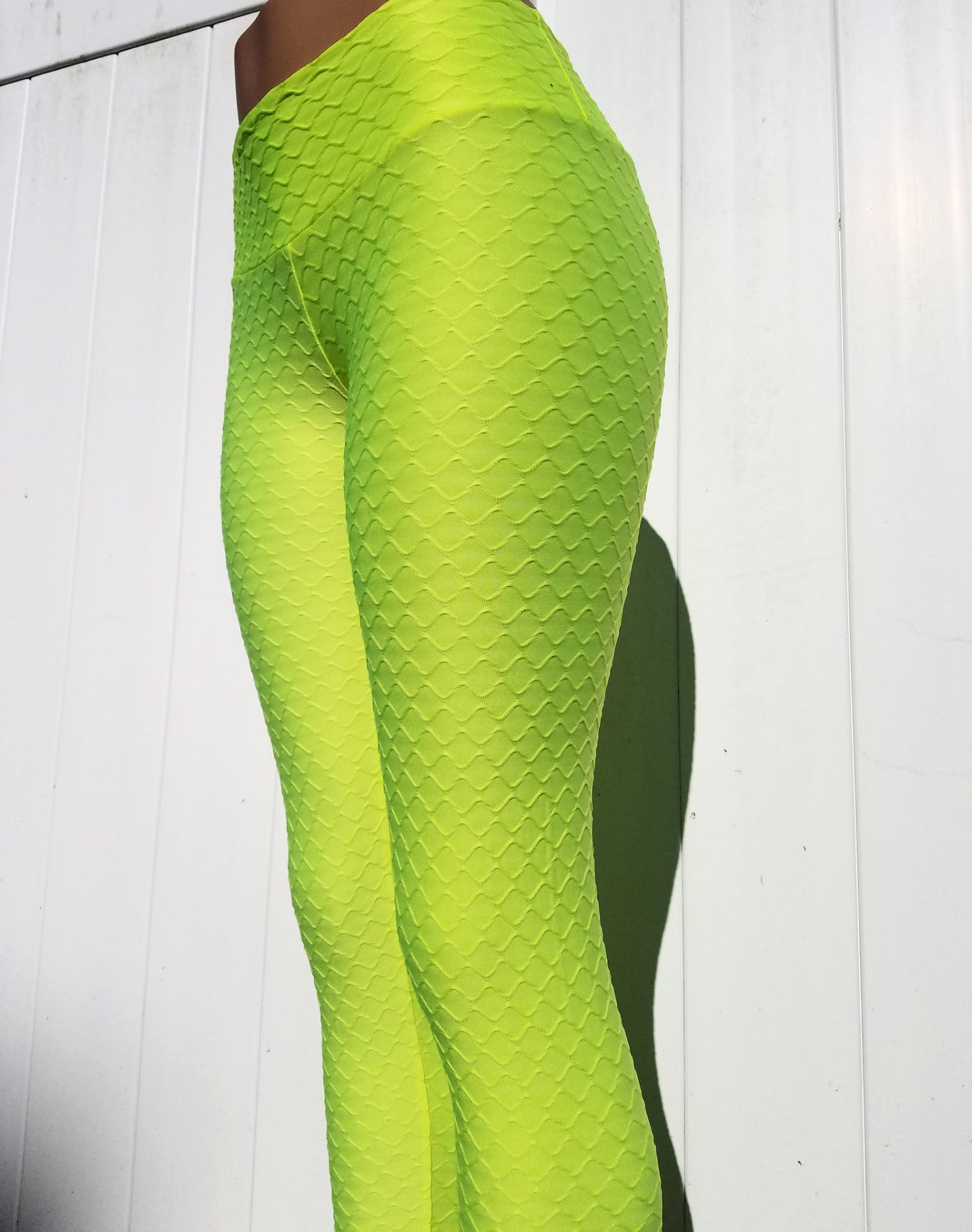 WAVE - NEON YELLOW-NYLeggings.com