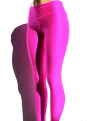 Bubble Wave Pink Workout Leggings