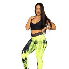 COLUBER NEO YELLOW (Light supplex) - NYLeggings.com
