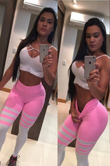 PINK BARS (Light supplex) - NYLeggings.com