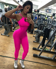 Hot Pink Bubble Jumpsuit for Women