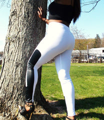 BLACK ANKLE PATCH-NYLeggings.com