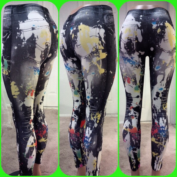Splatter Workout Leggings