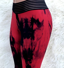 Coluber Red Workout Tights