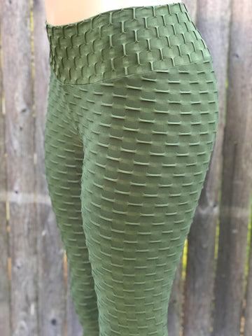 Bubble Army Green Tights
