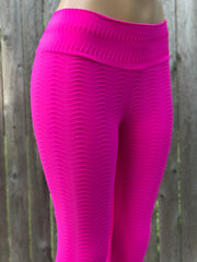 Python Hot Pink Yoga Leggings