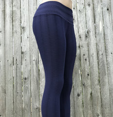 Python Blueberry Yoga Pants