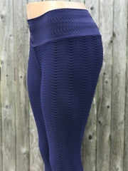 Python Blueberry Workout Leggings