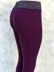 Zig Burgundy Workout Leggings