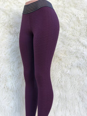 Zig Burgundy Yoga Tights