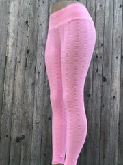 PYTHON BUBBLE GUM PINK - NYLeggings.com