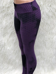 3D Purple Yoga Leggings