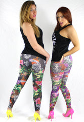 PURPLE ROSES - NYLeggings.com  - 2